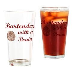 Bartender With Brain Drinking Glass