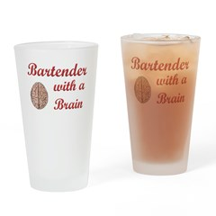 Bartender With Brain Drinking Glass