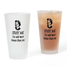 Trust Me Female Drinking Glass