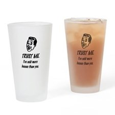 Trust Me Male Drinking Glass