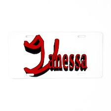 Vanessa Aluminum License Plate