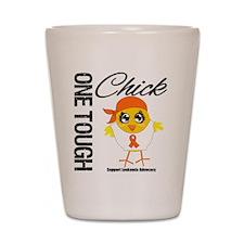 Leukemia One Tough Chick Shot Glass