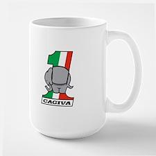 Cafe Elefant-2 Large Mug