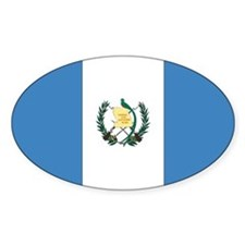 Guatemalan Flag Oval Decal