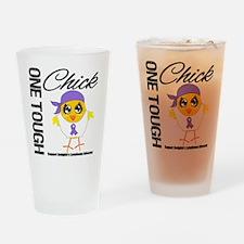 Hodgkin's Lymphoma OneToughChick Drinking Glass
