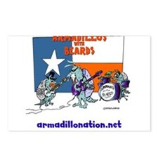 armadillos with beards Postcards (Package of 8)