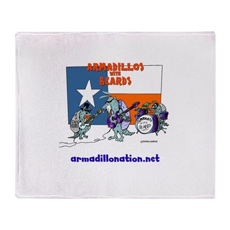 armadillos with beards Throw Blanket