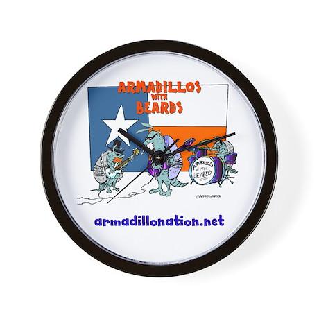 armadillos with beards Wall Clock