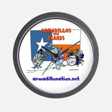 armadillos with beards Wall Clock