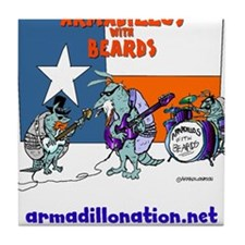 armadillos with beards Tile Coaster