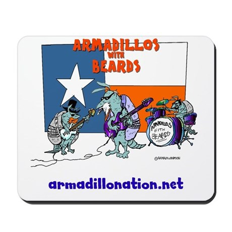 armadillos with beards Mousepad