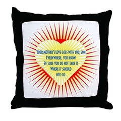 Mother's Love (son) Throw Pillow