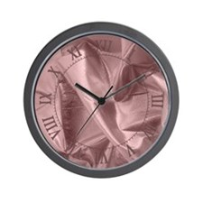 Metallic Pink Fabric Wall Clock