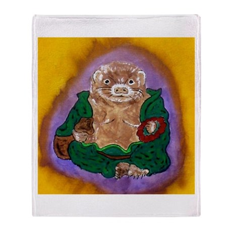 FERRET BUDDHA Throw Blanket