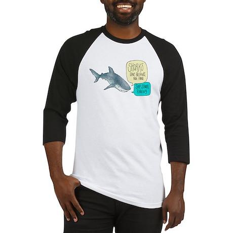 Sharks Are Friends Alternate Baseball Jersey