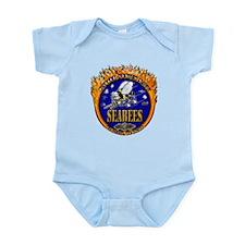 USN Navy Flaming Fighting Sea Infant Bodysuit