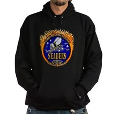 USN Navy Flaming Fighting Sea Hoodie