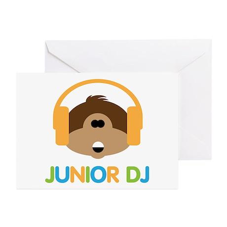 Junior Dj - Monkey - Greeting Cards (Pk of 10)