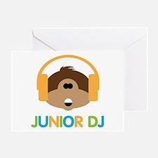 Junior Dj - Monkey - Greeting Card