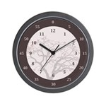 Hours &Amp; Minutes Wall Clock With Tree Image