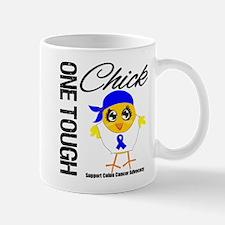 Colon Cancer One Tough Chick Small Small Mug