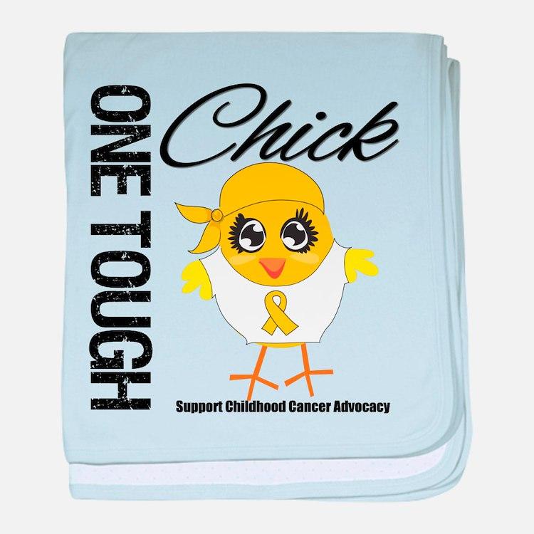Childhood Cancer OneToughChick baby blanket