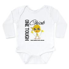 Childhood Cancer OneToughChick Long Sleeve Infant