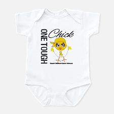 Childhood Cancer OneToughChick Infant Bodysuit