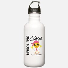 Breast Cancer One Tough Chick Water Bottle