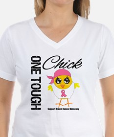 Breast Cancer One Tough Chick Shirt