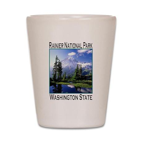 Mt Raineer National Park Shot Glass