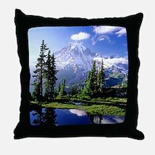 Mt Raineer National Park Throw Pillow