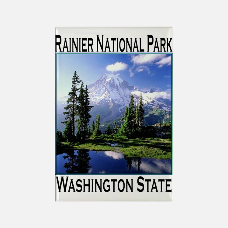 Mt Raineer National Park Rectangle Magnet