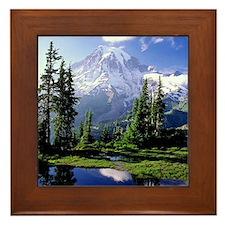 Mt Raineer National Park Framed Tile