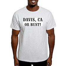 Davis or Bust! Ash Grey T-Shirt