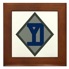 26th Infantry Yankee Div Framed Tile