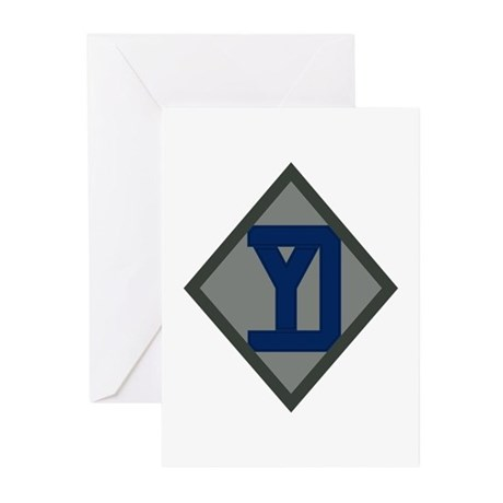 26th Infantry Yankee Div Greeting Cards (Pk of 10)