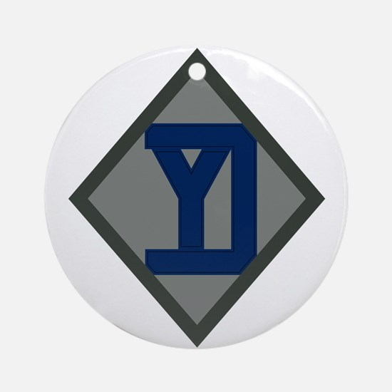 26th Infantry Yankee Div Ornament (Round)