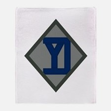 26th Infantry Yankee Div Throw Blanket