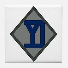 26th Infantry Yankee Div Tile Coaster