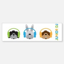 Junior Dj - Puppy - Bumper Bumper Sticker
