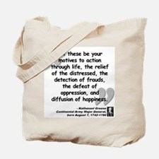 Greene Action Quote Tote Bag