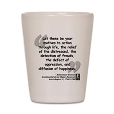 Greene Action Quote Shot Glass