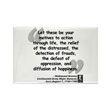 Greene Action Quote Rectangle Magnet