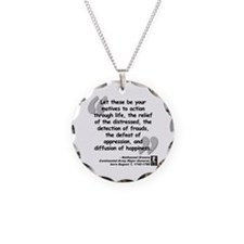 Greene Action Quote Necklace Circle Charm
