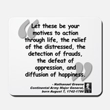 Greene Action Quote Mousepad