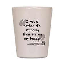 Zapata Standing Quote Shot Glass
