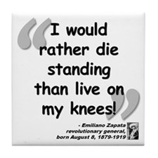 Zapata Standing Quote Tile Coaster