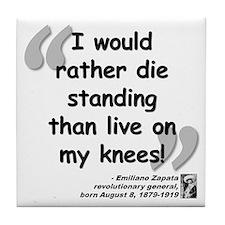 Zapata Standing Quote Tile Coaster