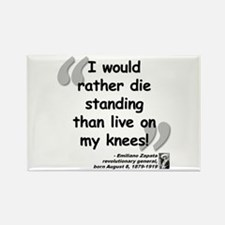 Zapata Standing Quote Rectangle Magnet